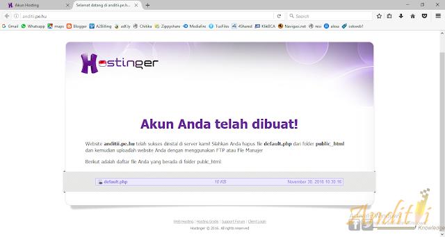 Memanfaatkan Fitur Auto Installer di IdHostinger untuk Membuat Website-anditii.web.id