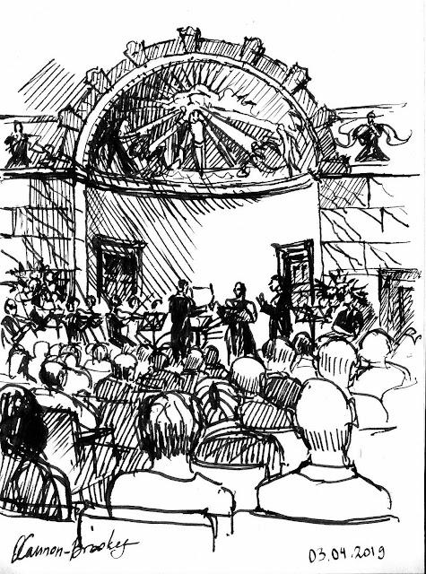 Handel: Aci, Galatea e Polfemo at the Wigmore Hall - drawn by Olga Cannon-Brookes