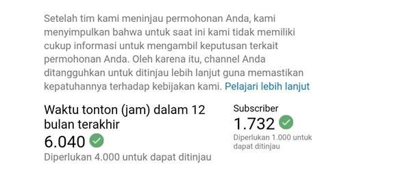 Proses Peninjauan Youtube
