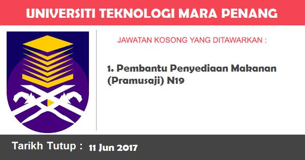 Jawatan Kosong di Universiti Teknologi MARA (UiTM) Penang