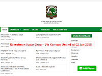 Rekrutmen Sugar Grup Via Kampus Unand Terakhir 2 Jan 2019