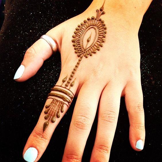 simple mehndi designs for fingers back side