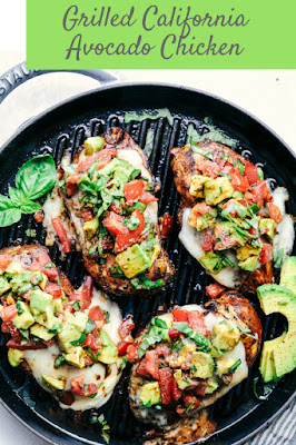 Grilled California Avocado Chicken Marinates