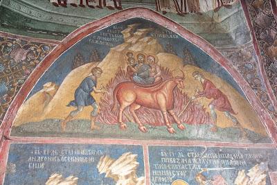Τοιχογραφία στην Ιερά Μονή Decani Κοσόβου
