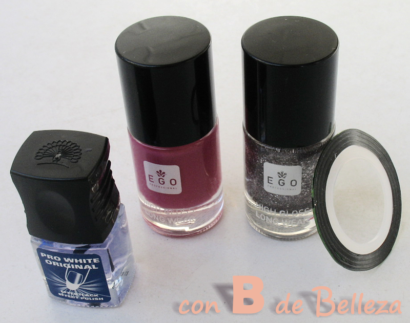 Swatches Sparkle brown y Magenta show