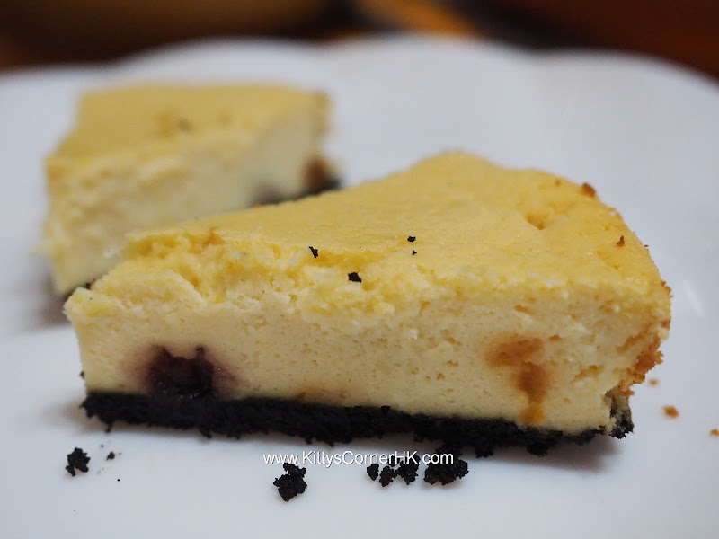 Baked Cheese Cake with Rum soaked Blueberry recipe 油香藍梅芝士蛋糕食譜