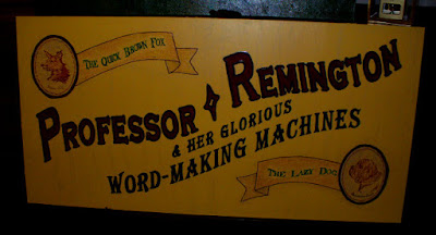 Professor Remington wooden billboard