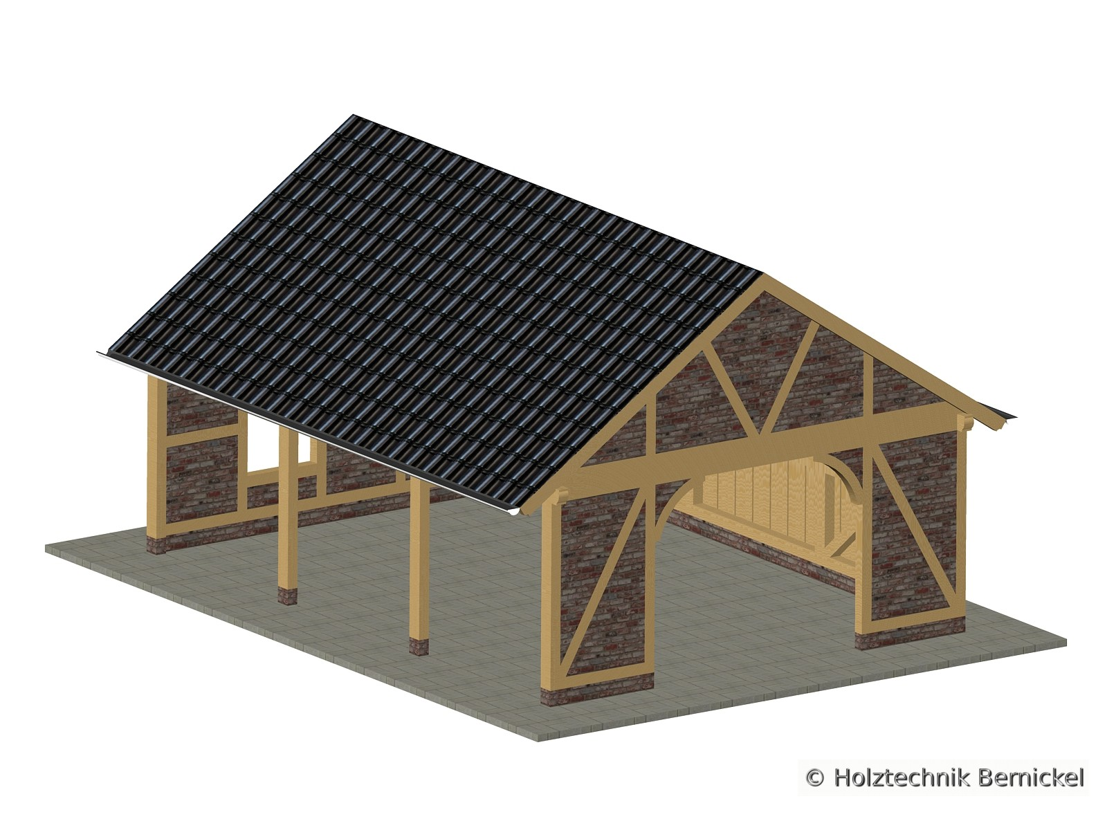 holztechnik bernickel carport holzbau holz satteldach. Black Bedroom Furniture Sets. Home Design Ideas