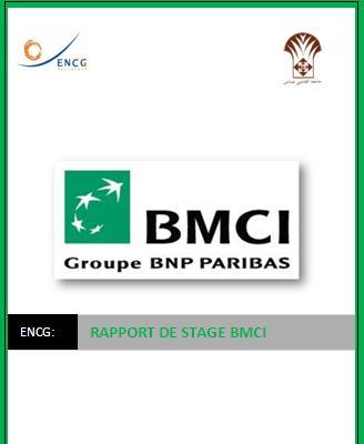 Rapport de stage encg les services bmci banque rapport for Banque pour le commerce exterieur lao