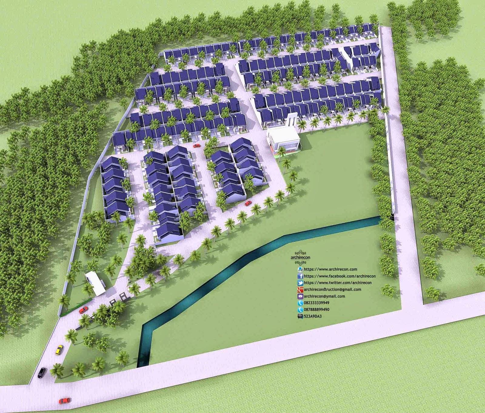 Desain Rumah Minimalis - 3D Site Plan