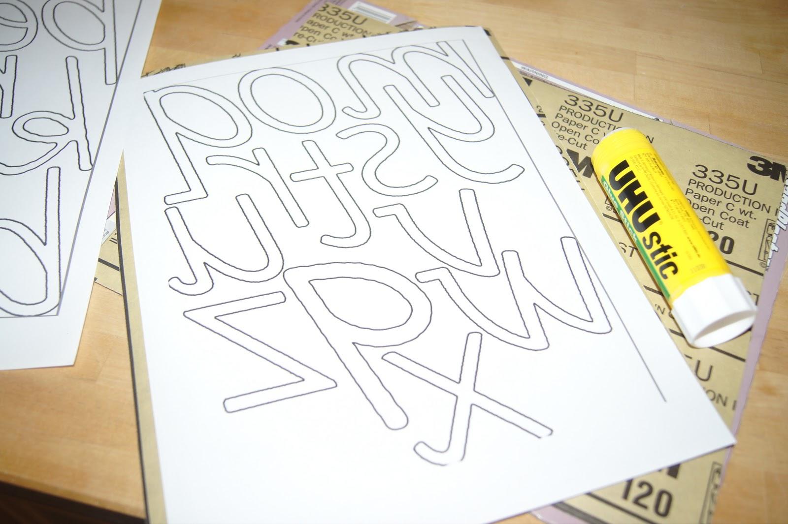 Diy D Nealian Sandpaper Letters Montessori Language Materials At Home