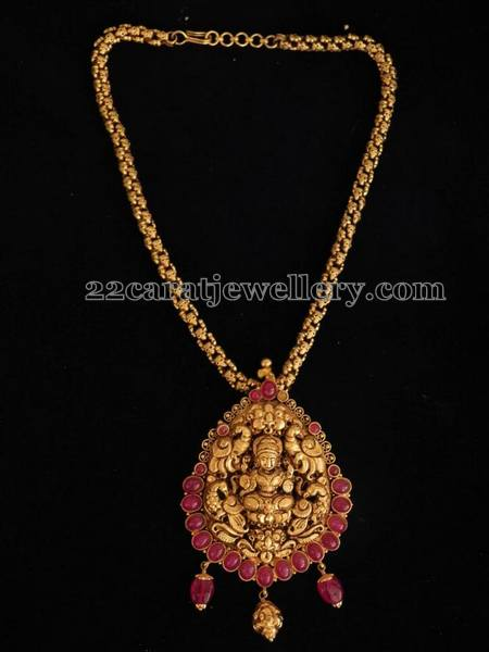 Ethnic Lakshmi Pendant Jewellery Designs