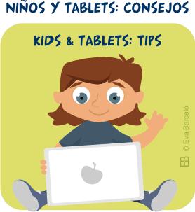 Niños y tablets: consejos | Kids and tablets: tips | desde evacreando.blogspot.com