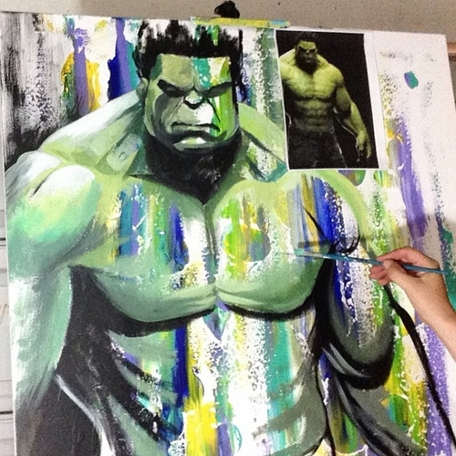 19-The-Hulk-Jonathan-Harris-Celebrity-Paintings-Images-and-Videos-www-designstack-co