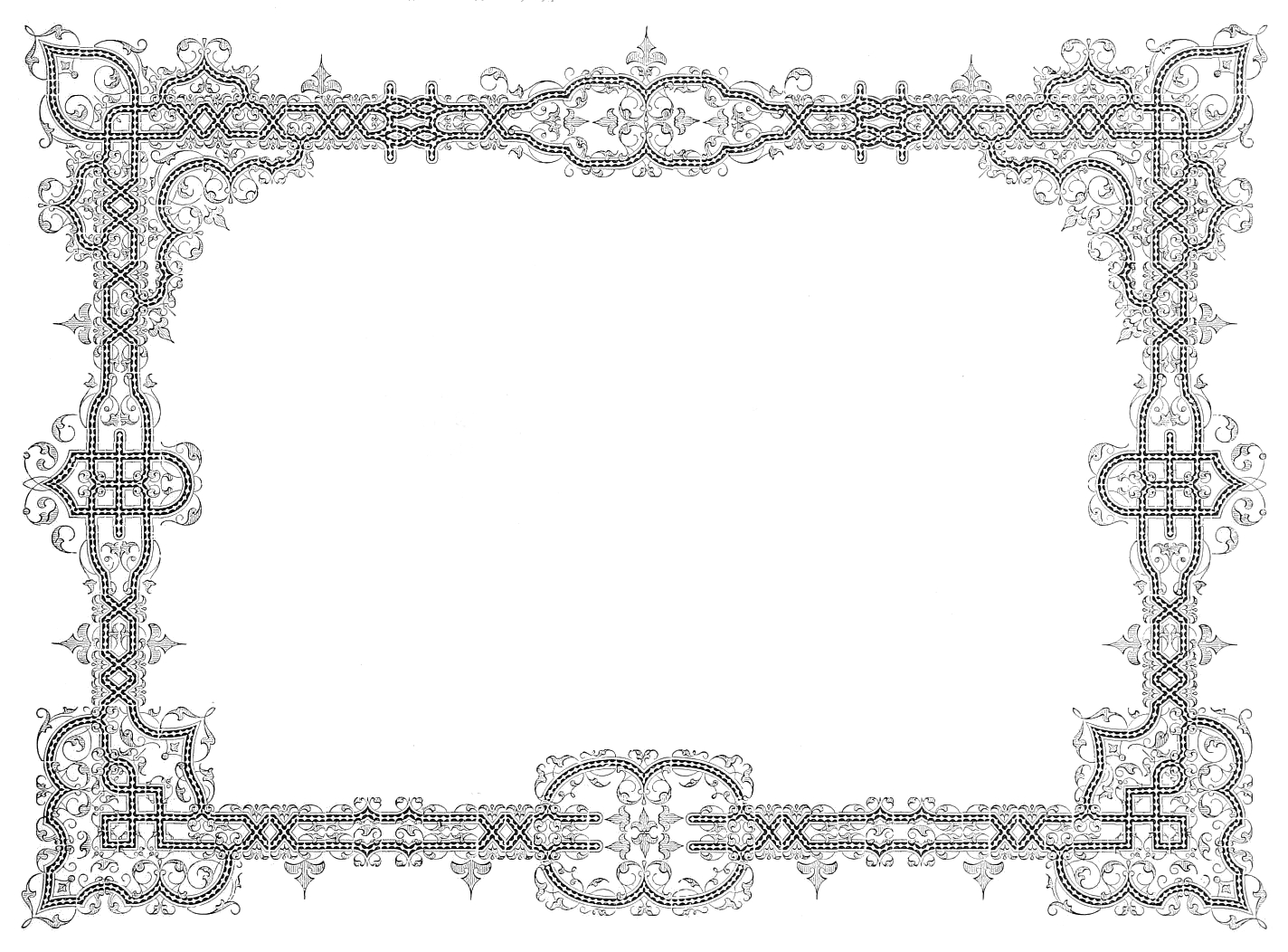 Black And White Vintage Frame High Resolution 1424 X 1052