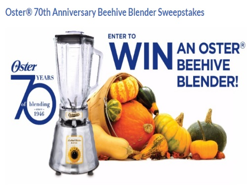 Oster Beehive Blender Sweepstakes