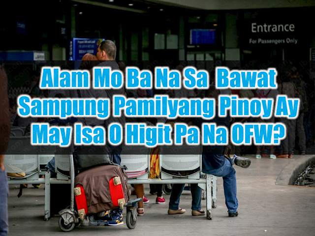 The number of Overseas Filipino Workers (OFWs) who worked abroad during the period April to September 2017 was estimated at 2.3 million. Overseas Contract Workers (OCWs) or those with existing work contract comprised 97.0 percent of the total OFWs during the period April to September 2017. The rest (3.0%) worked overseas without a contract.    The proportion of female OFWs (53.7%) was higher than male OFWs (46.3%). The largest proportion of OFWs belonged to age group 30 to 34 years comprising 21.7 percent of all OFWs, followed by those aged 25 to 29 years with 20.4 percent.   Female OFWs were younger compared to male OFWs. The higher percentage (24.1%) of female OFWs were in the age group 25 to 29 years while the male OFWs were reported to have a higher percentage (19.8%) in the age group 30 to 34 years. There were more male OFWs than female OFWs in the age group 35 years and over. In every Filipino household, there is at least one OFW, could be more and their remittances has always a saving grace for the Philippine economy.  Advertisement        Sponsored Links  In 2017, the Philippines stood as the third largest recipient ($33 billion) of remittances in the world, only behind giants of India ($69 billion) and China ($64 billion). Yet, this much-needed exogenous economic boost has come at a steep social cost.  These include, among others, the creation of a culture of dependency among relatives of OFWs; separation of nuclear families, as one or both parents left behind their children back home; and, crucially, subjecting hundreds of thousands of Filipinos to potential abuse and dangerous working conditions in undemocratic nations with limited respect for human and labor rights.  Yet, with the Philippines emerging as the fastest growing economy in the region, it's now in a better position to provide employment at home. In fact, amid a $180 billion infrastructure buildup, the Southeast Asian country is running short of labor, particularly in the construction sector.  
