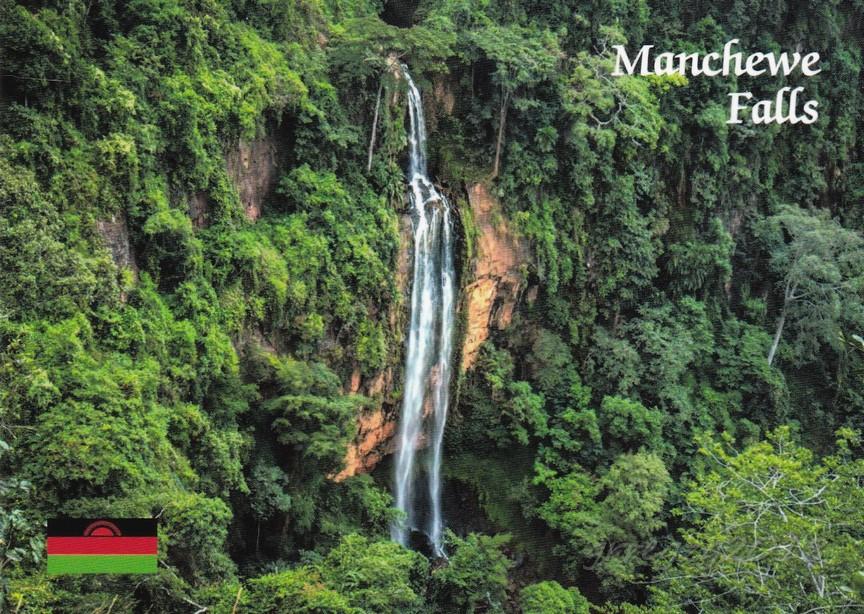 Postcards of the world - waterfalls & caves ...: Malawi - Manchewe ...
