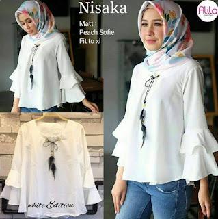 Model Kemeja Putih Wanita Berhijab Branded 2019