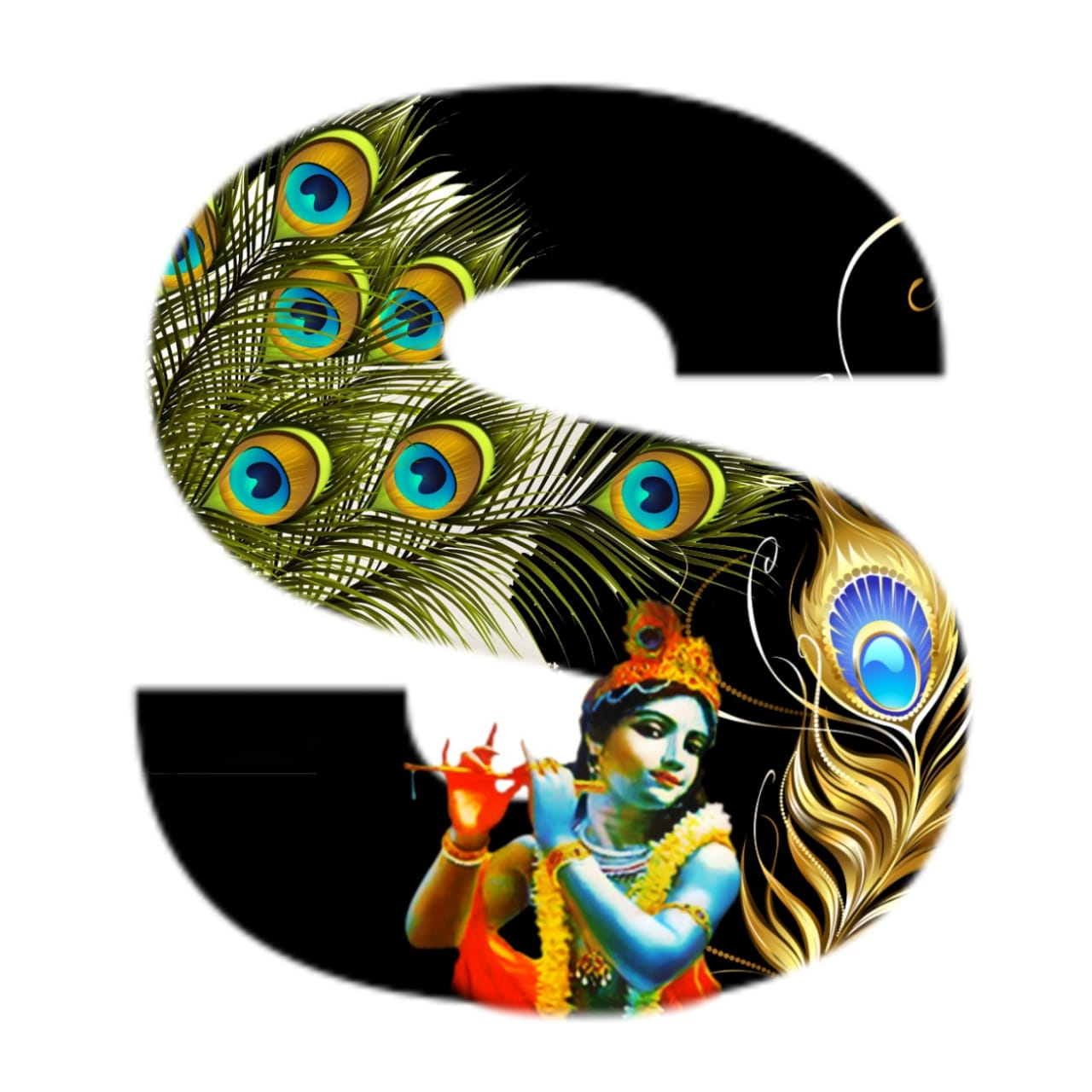 shree krishna alphabet s images