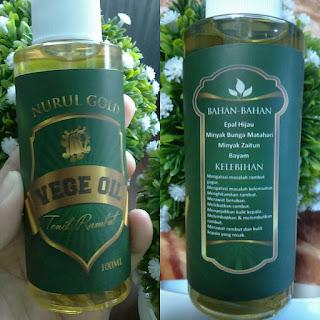 Penawar Rambut Gugur .... Nurul Gold Vege Oil