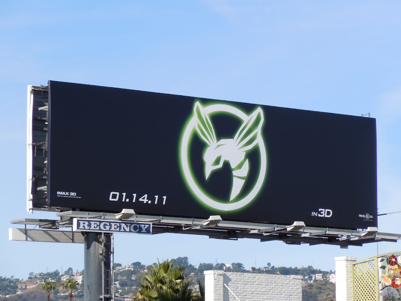 Green Hornet logo billboard
