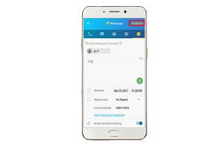 Cara Mengirim Pesan Berwaktu Di WhatsApp Android