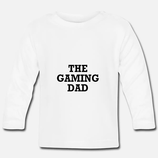Baby Langarmshirt T Shirt Motiv The Gaming Dad