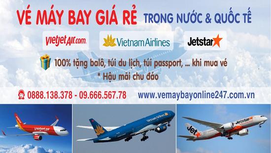 vé máy bay giá rẻ 100% quà tặng túi xách khi mua vé