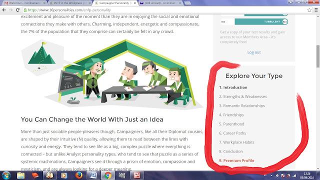 Preview Tes Kepribadian Online: 16Personalities.com