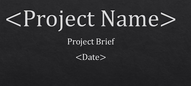PRINCE2 HOW2: PowerPoint PRINCE2 Project Brief Template