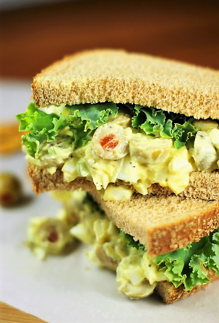 Egg Salad with Olives image