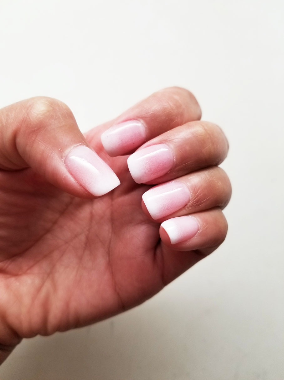 Ombre Pink And White : ombre, white, Nails:, White, Ombre, Makeup, RenRen