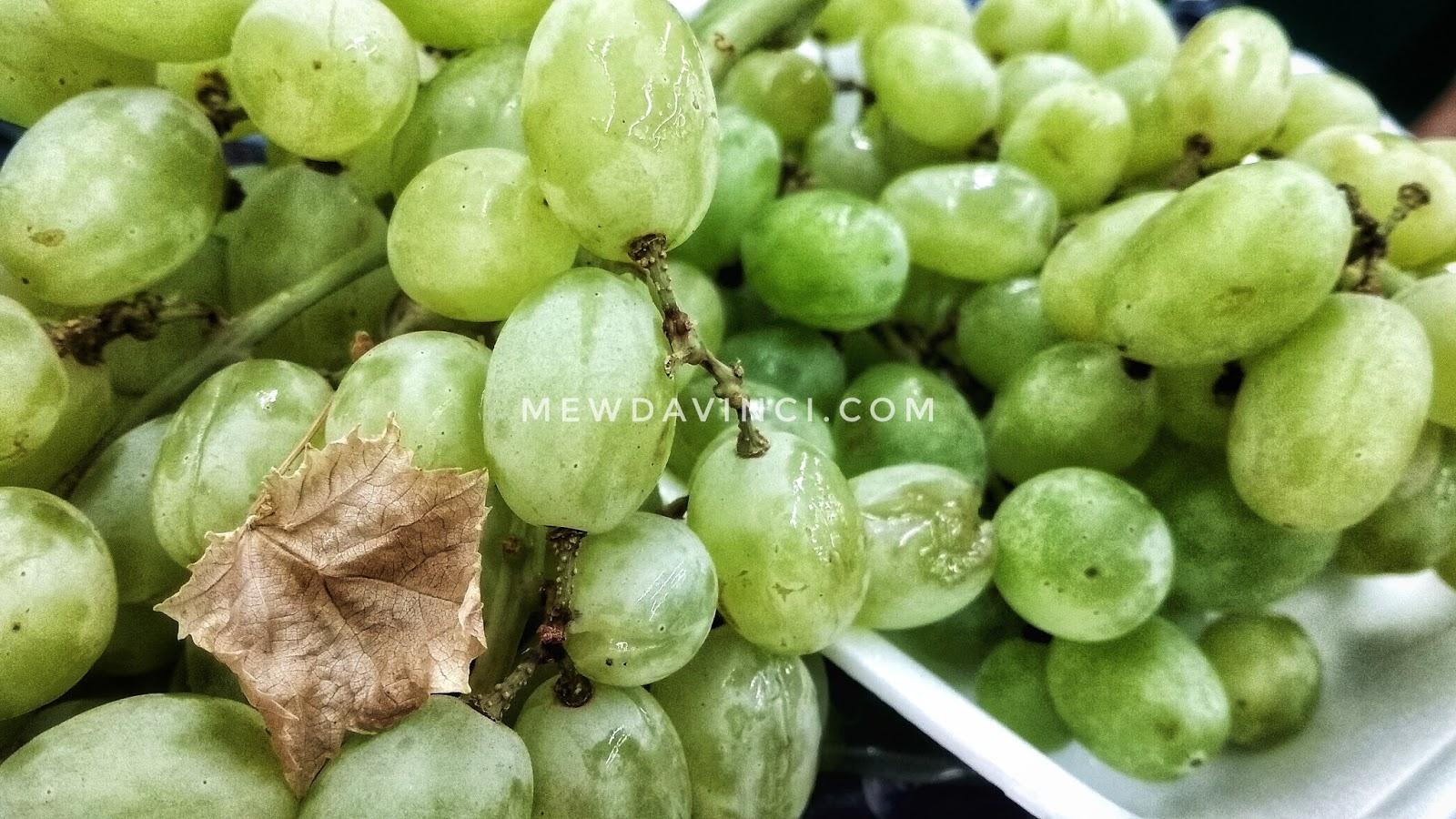 Anggur hijau, bukannya belum matang