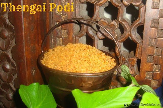 images of  Kobbari Podi Recipe