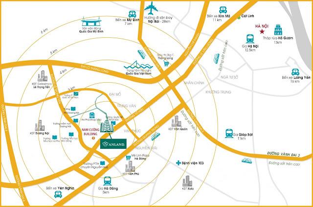 Vị trí chung cư Anland Premium Nam Cường.