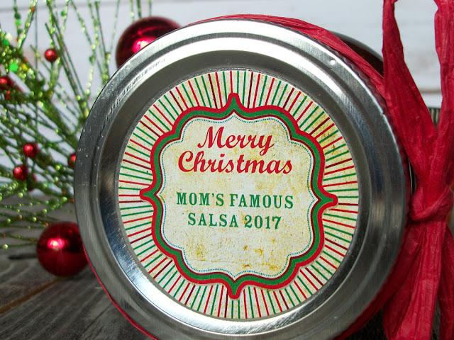 Custom Vintage Merry Christmas canning label