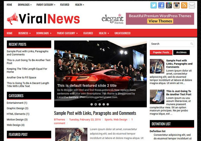 ViralNews Blogger Theme