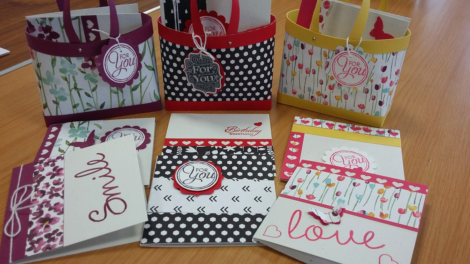 Stampin Up gift bags www.jeminicrafts.co.uk