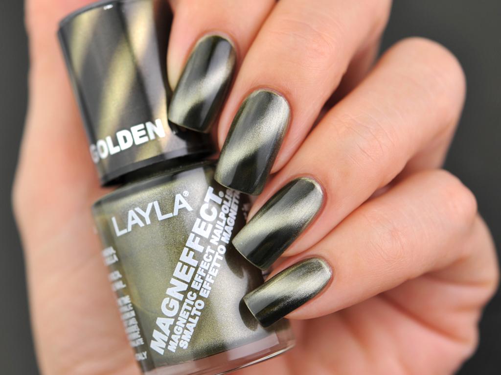 Layla Cosmetics: Golden Nugget (Magneffect) | Shimacha2012 Nails