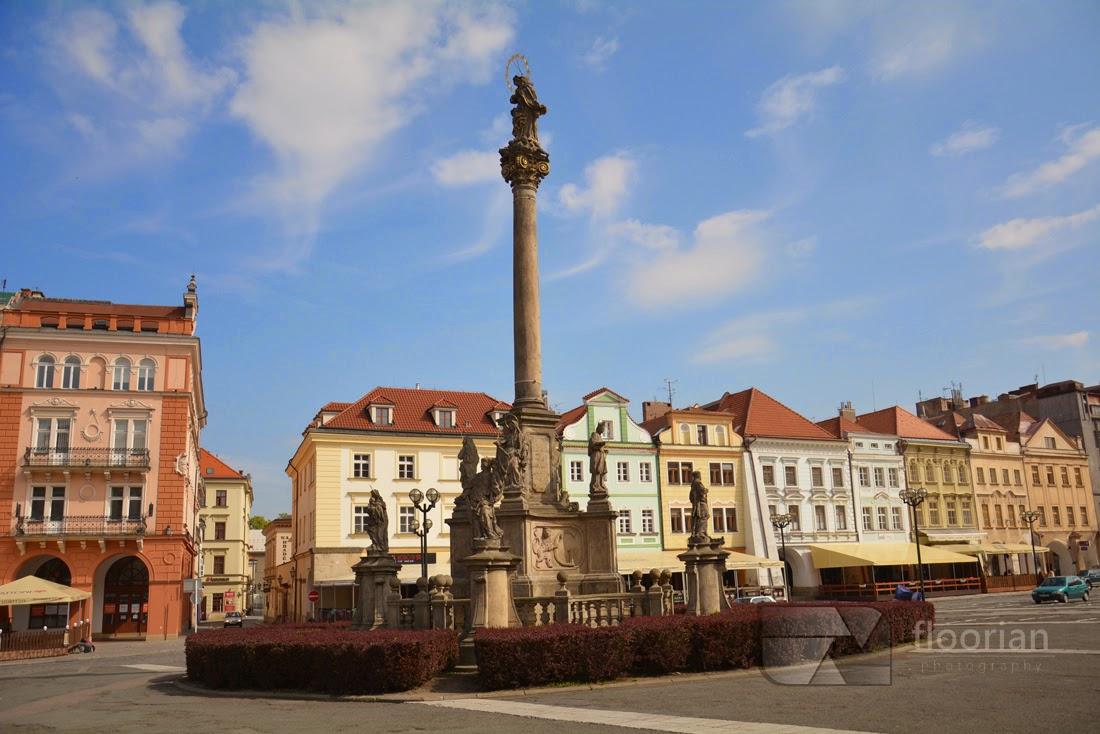 Hradec Králové - Kolumna Mariacka na Dużym Rynku