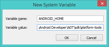 Android Dev Tips] การตั้งค่า Environment Variable สำหรับ Android SDK