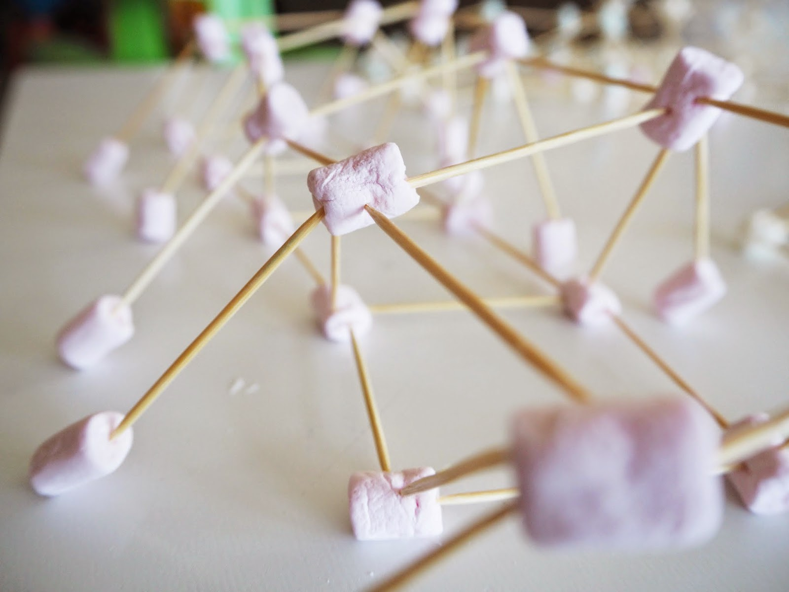 picture relating to Building With Toothpicks and Marshmallows Printable identified as Master with Perform at House: Mini-marshmallow and toothpick