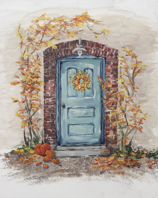 Blue Fall Door free printable