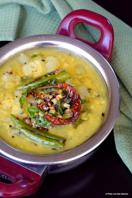 Dosakai Pappu / Yellow Cucumber  Dal ~ Day 160