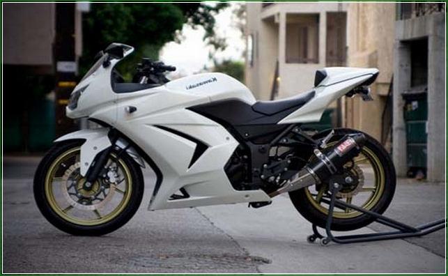 Modipikasi Warna Hitam Putih - Contoh Gambar Dan Foto Konsep Desain Modifikasi Kawasaki Ninja 4 Tak 250cc Sporti Ala Moge Keren Banget