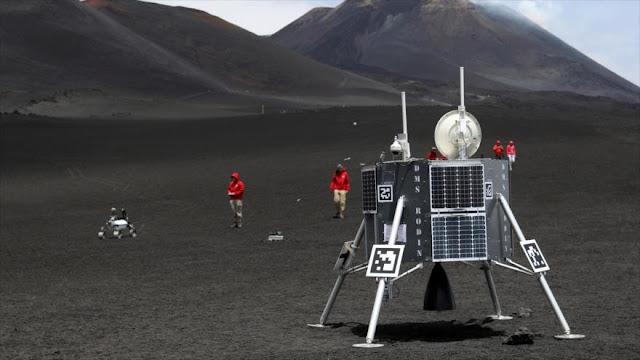 Europa inicia simulacro espacial en Etna para enviar robot a la Luna