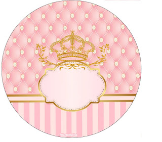 Golden Crown in Pink: Free Printable Cupcake Wrappers and Toppers