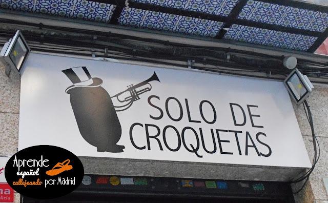 Aprende español callejeando por Madrid: Croquetas
