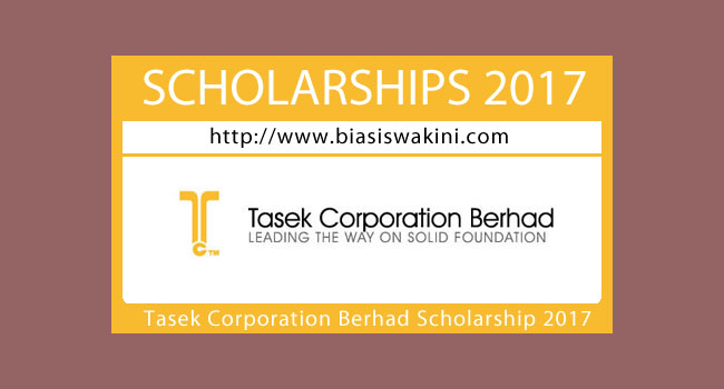 Tasek Corporation Berhad Scholarship 2017